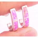 Серьги серебряные с розовыми опалами