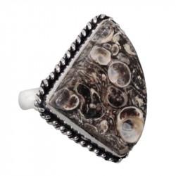 Яшма черепаховая кольцо