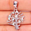 Серебряный кулон Дерево с белыми опалами