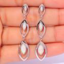 Серебряные серьги с белыми опалами