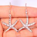 Серебряные серьги Морские звезды с опалом