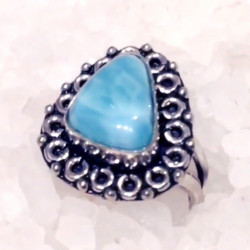 Кольцо из серебра с ларимаром