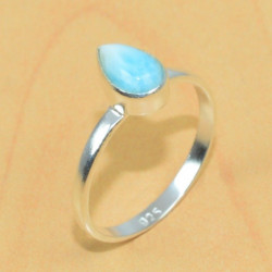 Кольцо с ларимаром в серебре