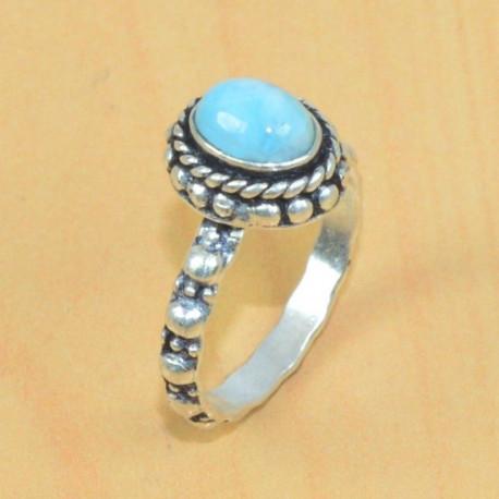 Кольцо с природным ларимаром