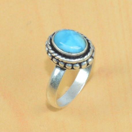 Кольцо с карибским ларимаром