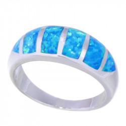 Кольцо с опалом в серебре