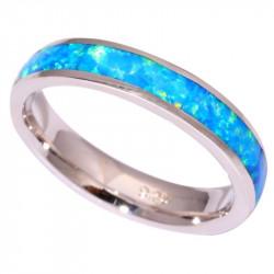 Кольцо из серебра с голубым опалом