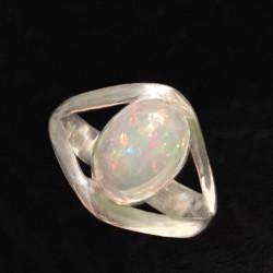 Серебряное кольцо с большим опалом натуральным