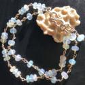 Серебряный браслет с натуральными опалами