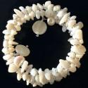 Перламутровый браслет из ракушек с жемчугом