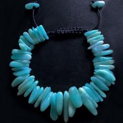 Плетеный браслет из аквамарина