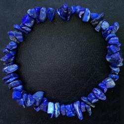 Стрейчевый браслет из камней лазурита