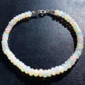 Серебряный браслет с натуральным опалом