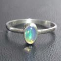 Серебряное кольцо с натуральным опалом