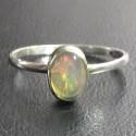 Серебряное кольцо с эфиопским опалом