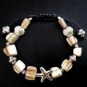 Плетеный браслет из ракушек Морская звезда