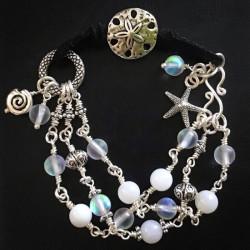 Морской браслет из синтетического лунного камня