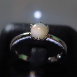 Серебряное кольцо с натуральным опалом 1.1 карат