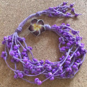 Морской плетеный браслет из бисера