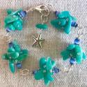 Морской браслет с амазонитом