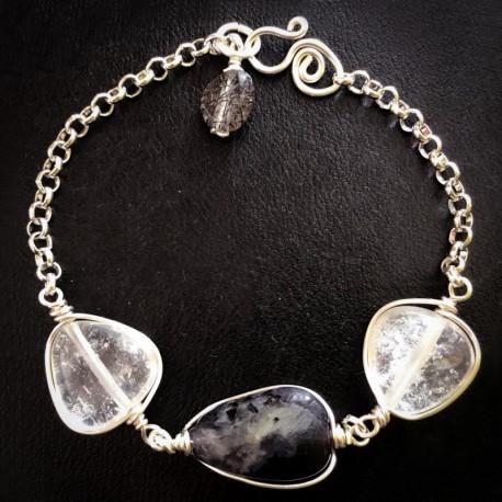 Цепочка браслет с камнями