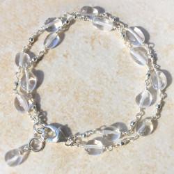 Горный хрусталь браслет из прозрачных камней