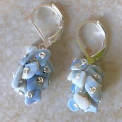 Модные серьги с опалом голубым