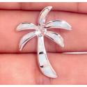 Кулон Кокосовая пальма из серебра с белым опалом